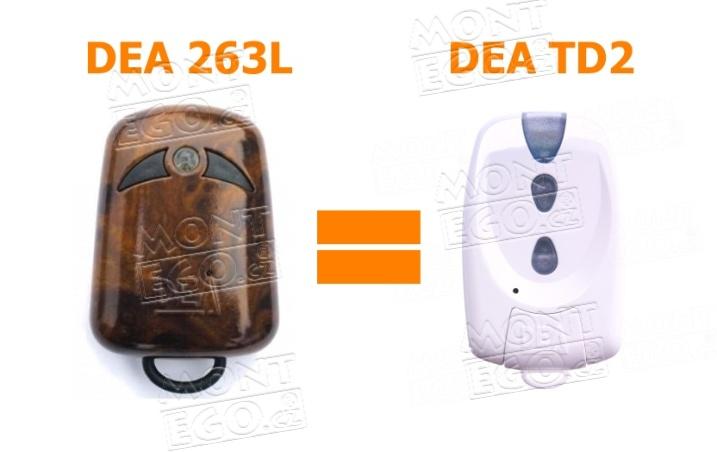 DEA TD2 - náhrada za dálkový ovladač DEA 263L