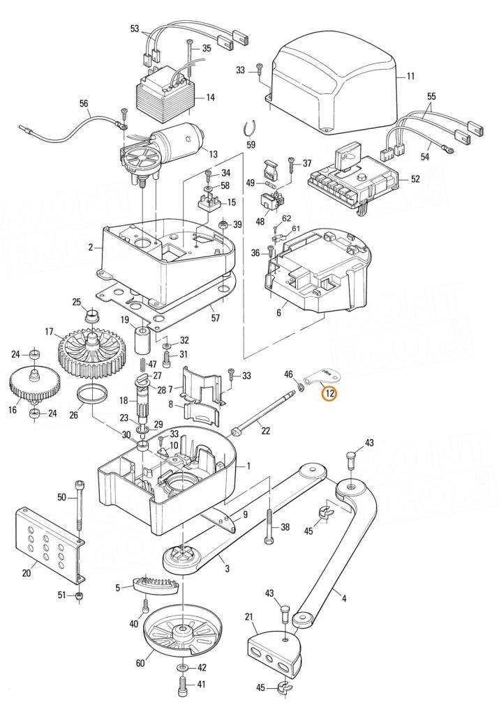 Náhradní odblokovací klíč PPD1244A.4540 pro pohony Nice