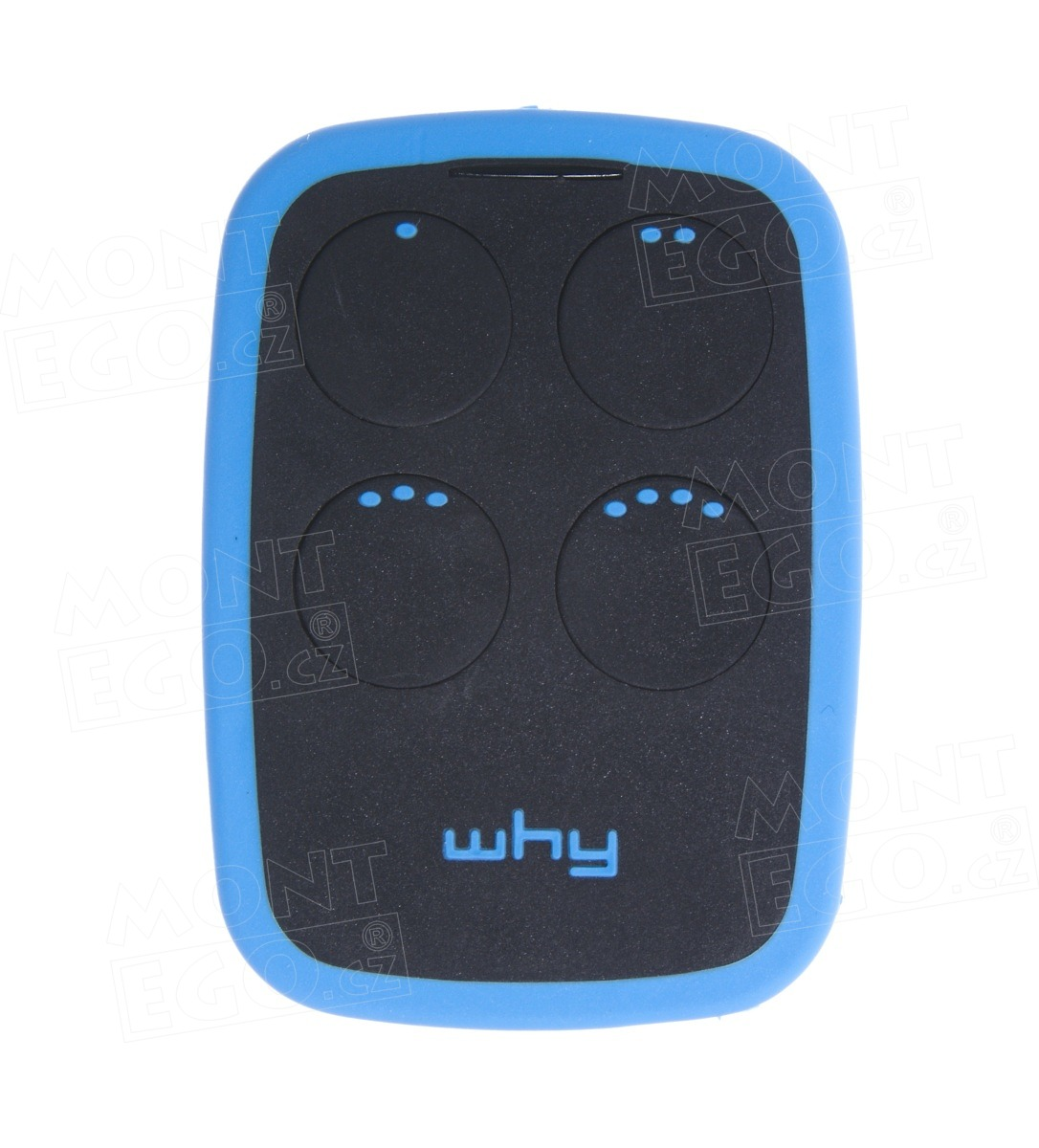 Multi ovladač Sice WHYEVO .Blu63, programovatelný 4-kanálový dálkový ovladač na vrata, černá-modrá