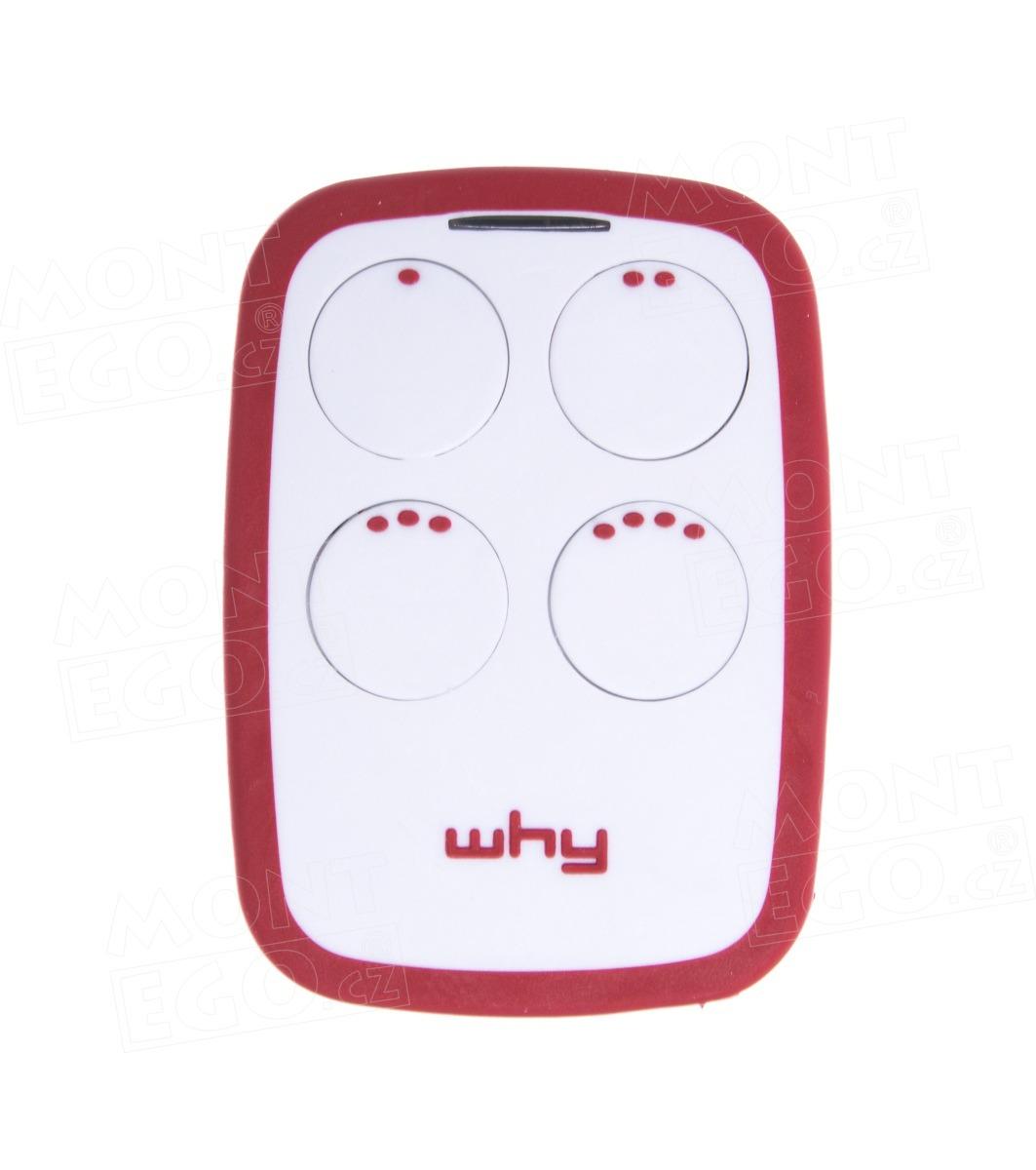 Univerzální dálkový ovladač na vrata WHY-EVO.R63, 4-kanálový, červená-bílá