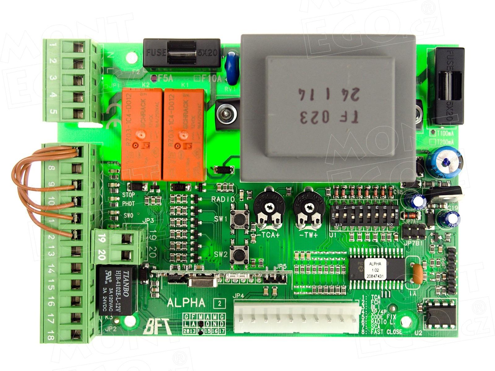 schema elettrico bft alpha schema elettrico centralina