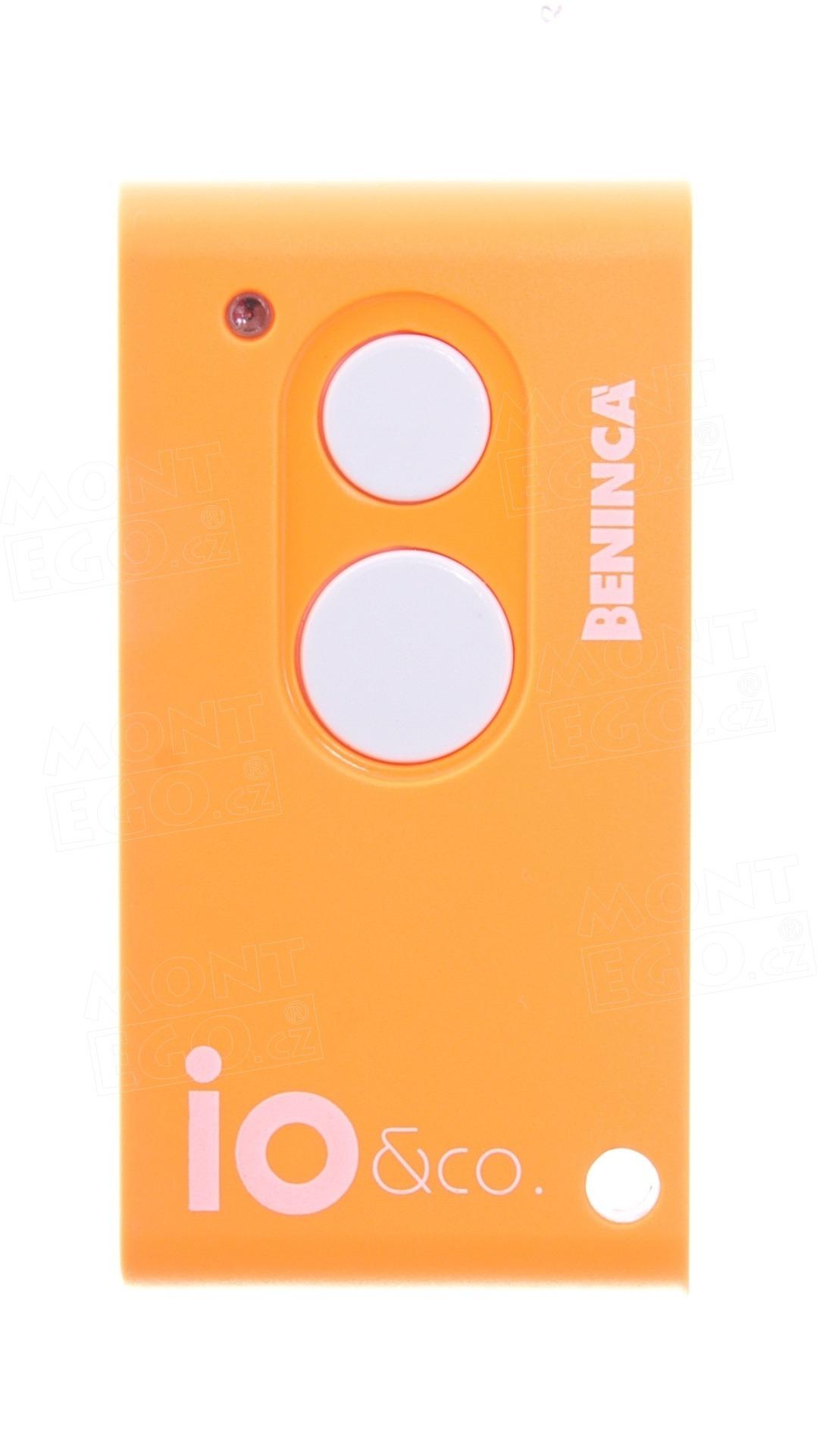 Dálkový ovladač Beninca IO.2WV, dvoukanálový oranžový