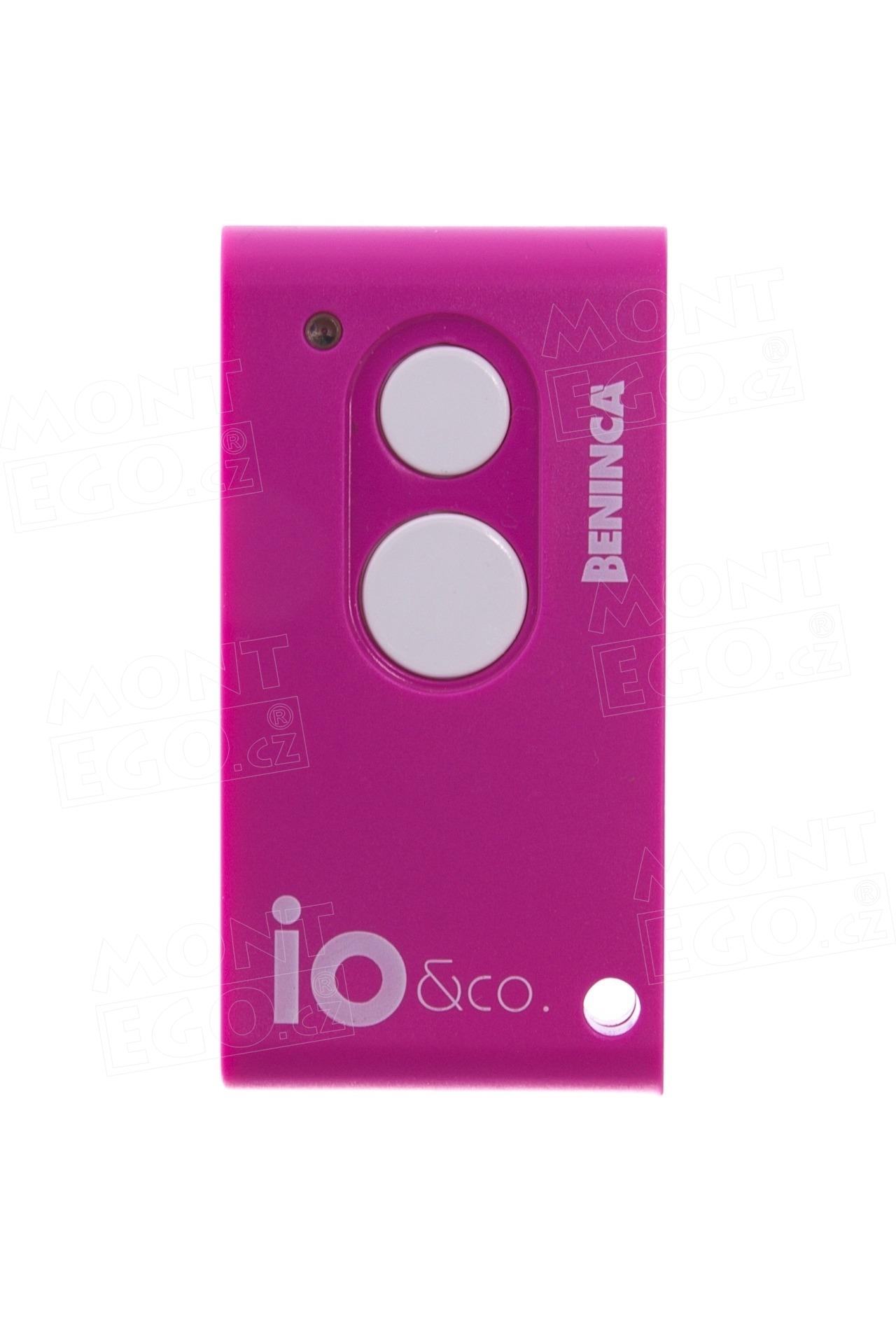 Vysílač Beninca IO.2WV fialový, dvoukanálový, PINK Colours
