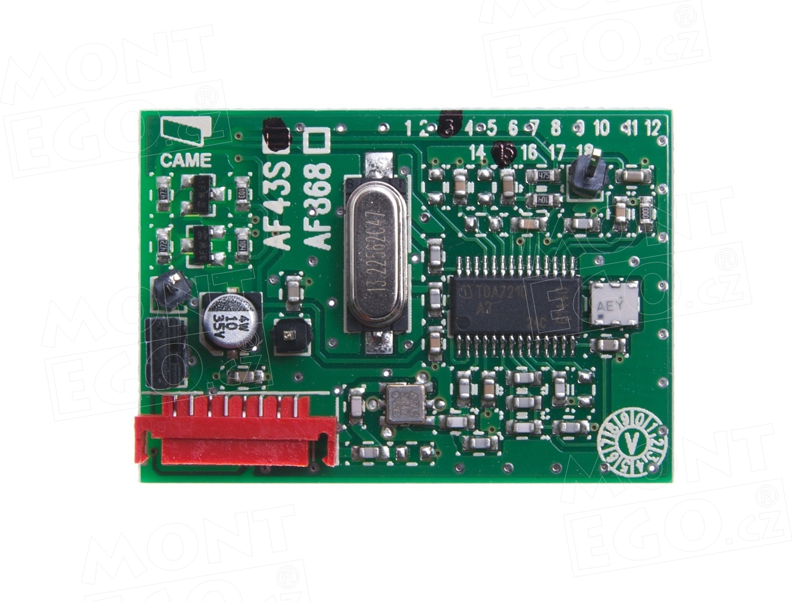 Karta zásuvného přijímače CAME AF43S, 2 kanály, 433 MHz, pevný kód