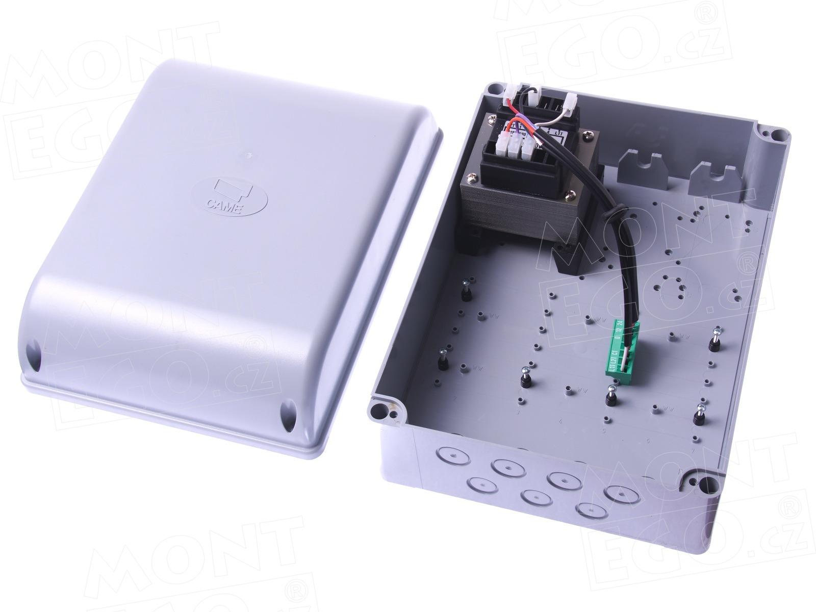 Montážní krabice s trafem S4655 pro centrálu k pohonům křídlové brány Came ZF1