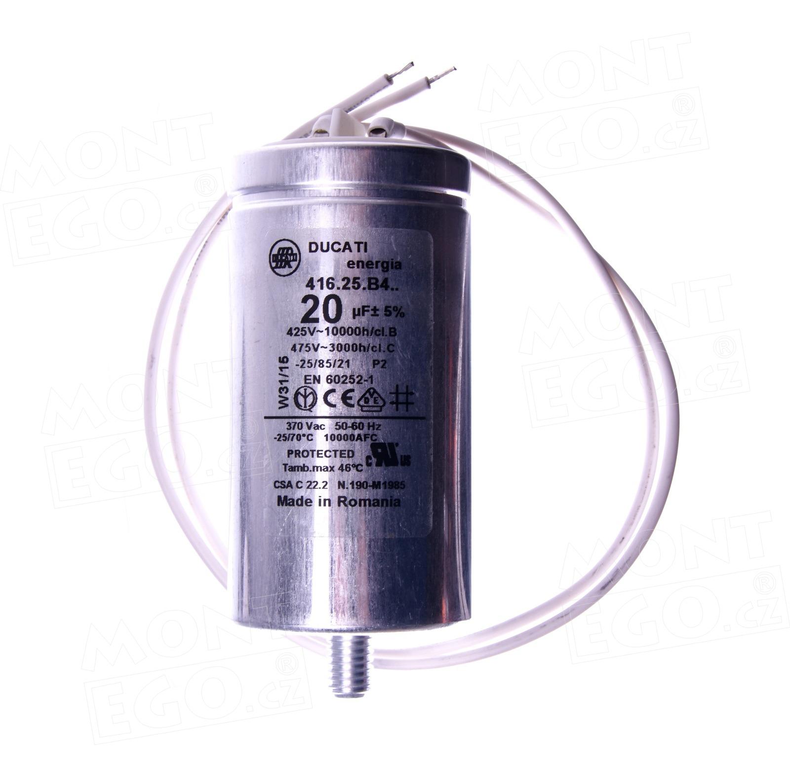 Kondenzátor 20uF/450V k pohonu Came BX-74, BX- / BX-B 119RIR278
