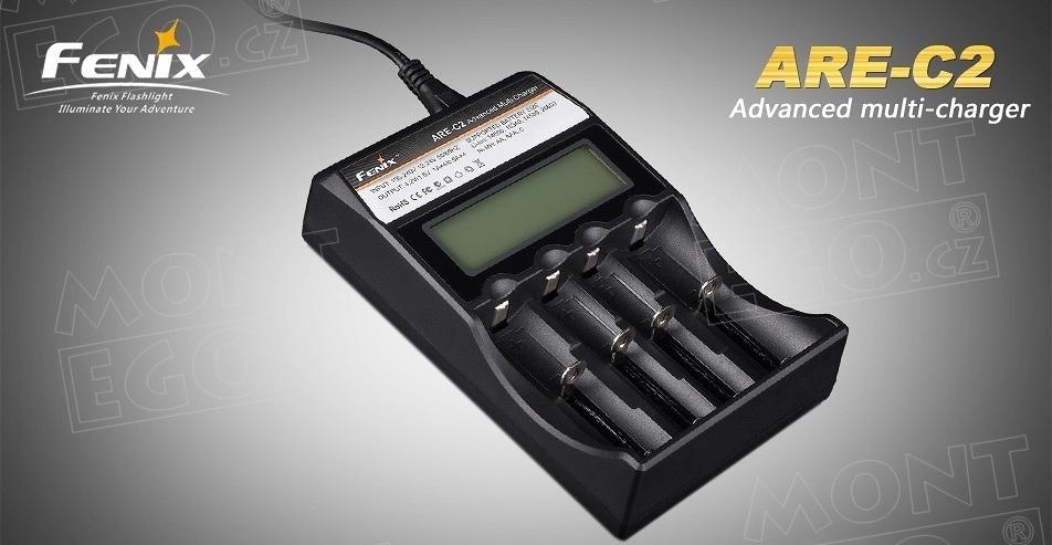 Fenix ARE-C2, univerzální nabíječka akumulátorů