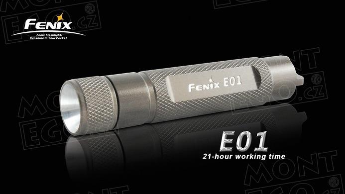 Svítilna Fenix E01, černá mini baterka