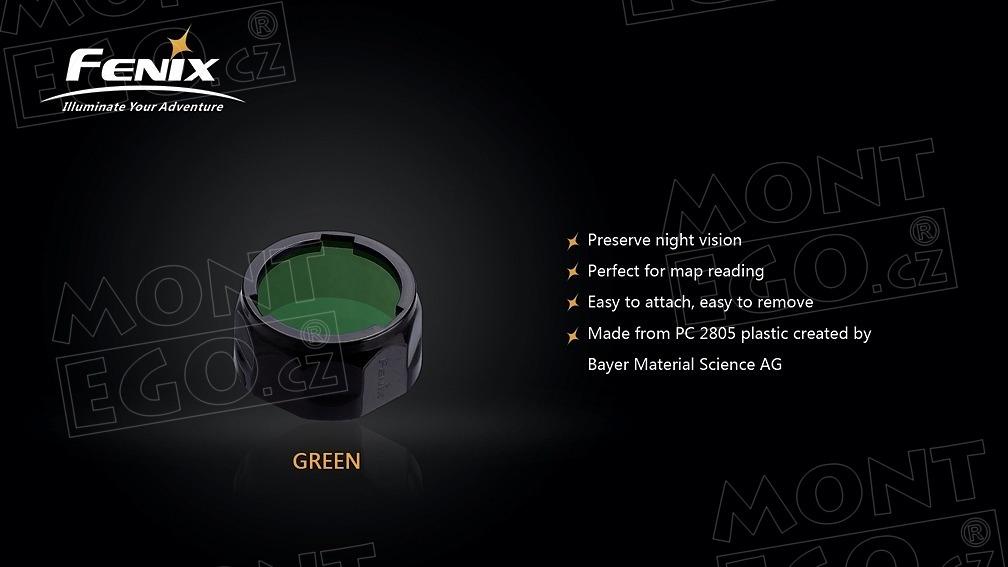 Fenix AOF-S+, zelený filtr na svítilny