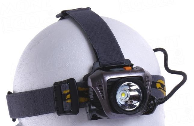 LED čelová svítilna Fenix HP30, šedá čelovka s 900 lm na 2 x aku 18650 (power banka)