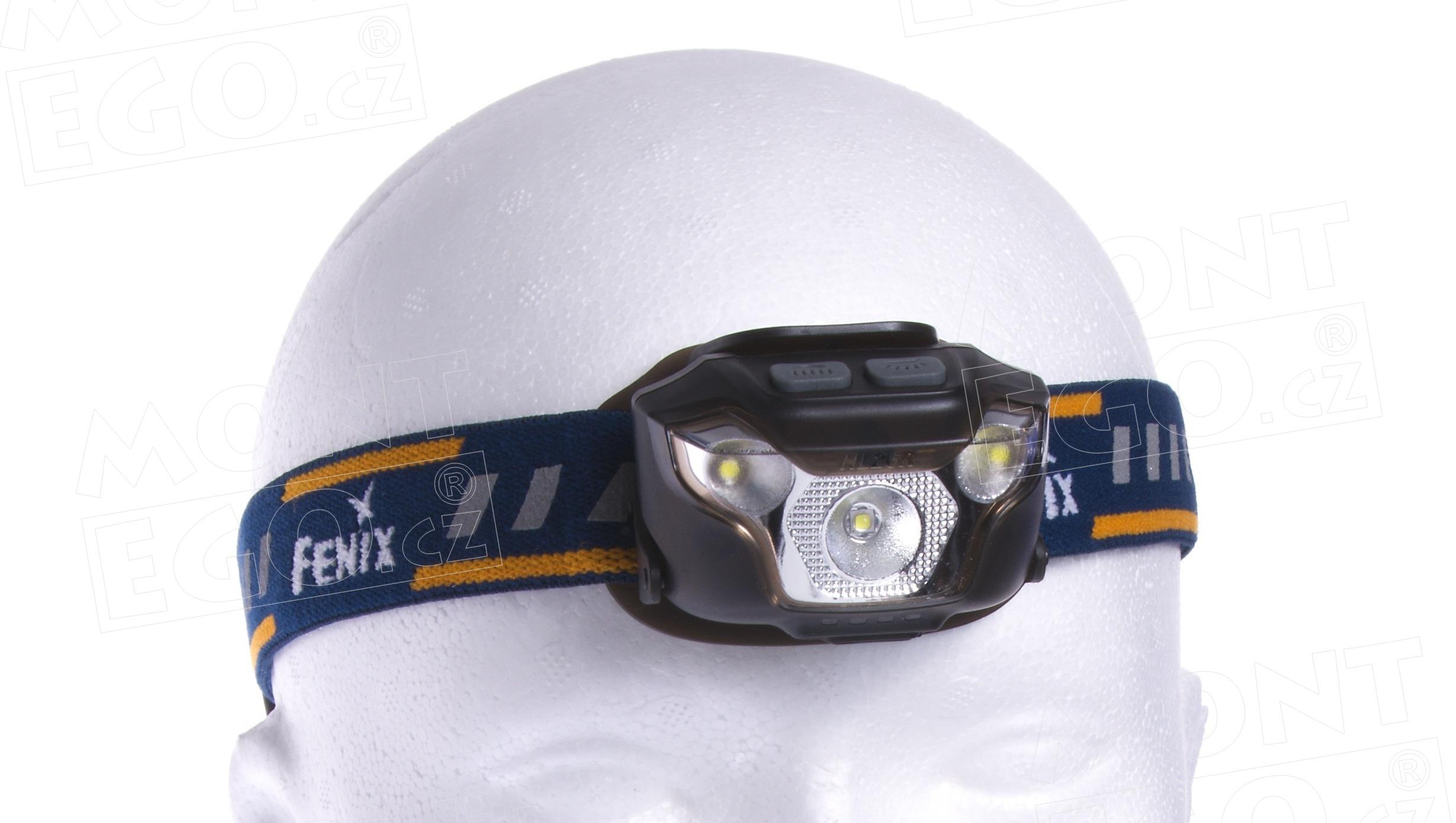 Nabíjecí LED čelovka Fenix HL26R s vlastním AKU, černá, 460 lm