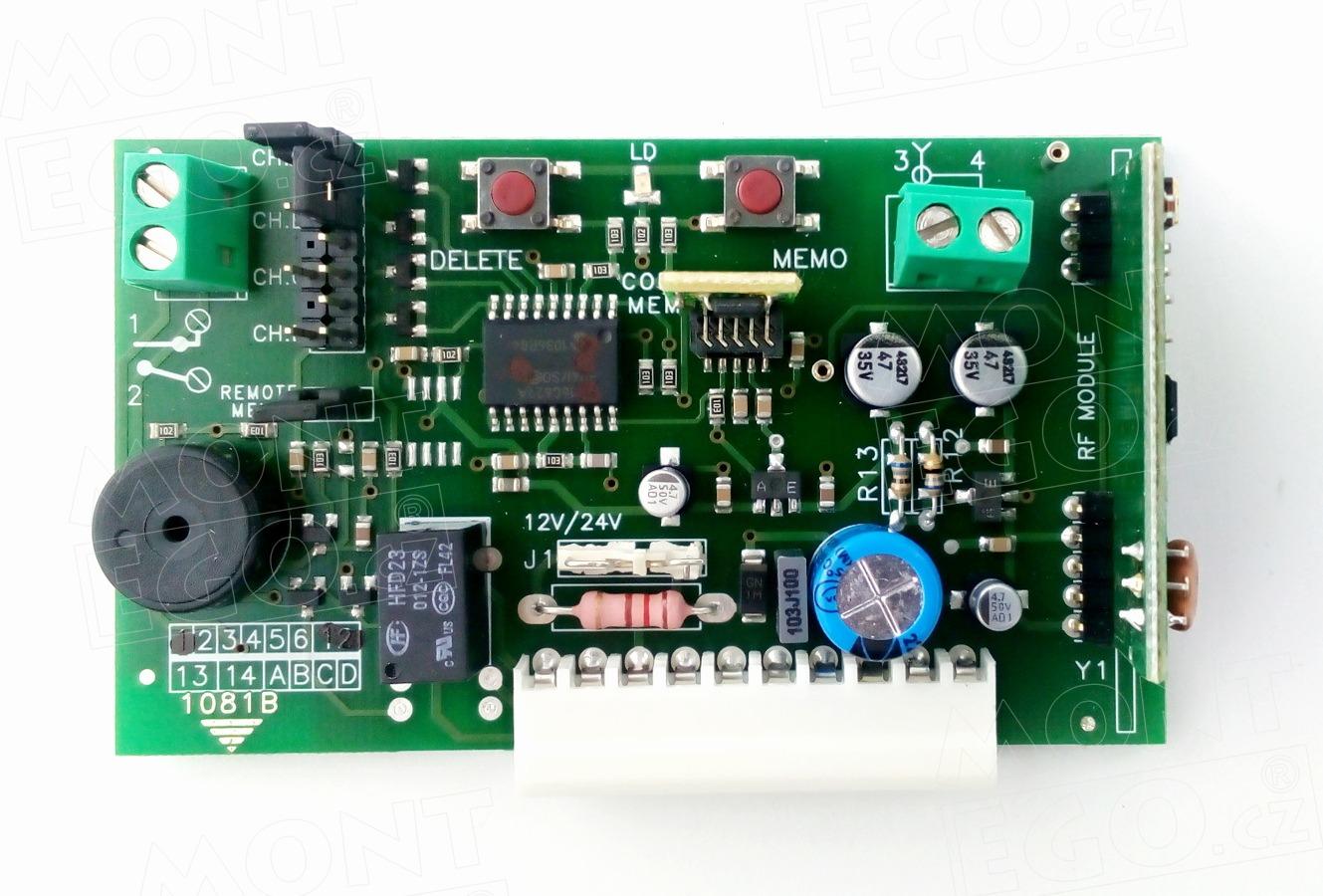 Genius A245 2 kanálový zásuvný přijímač dálkového ovládání vrat + Doprava zdarma!