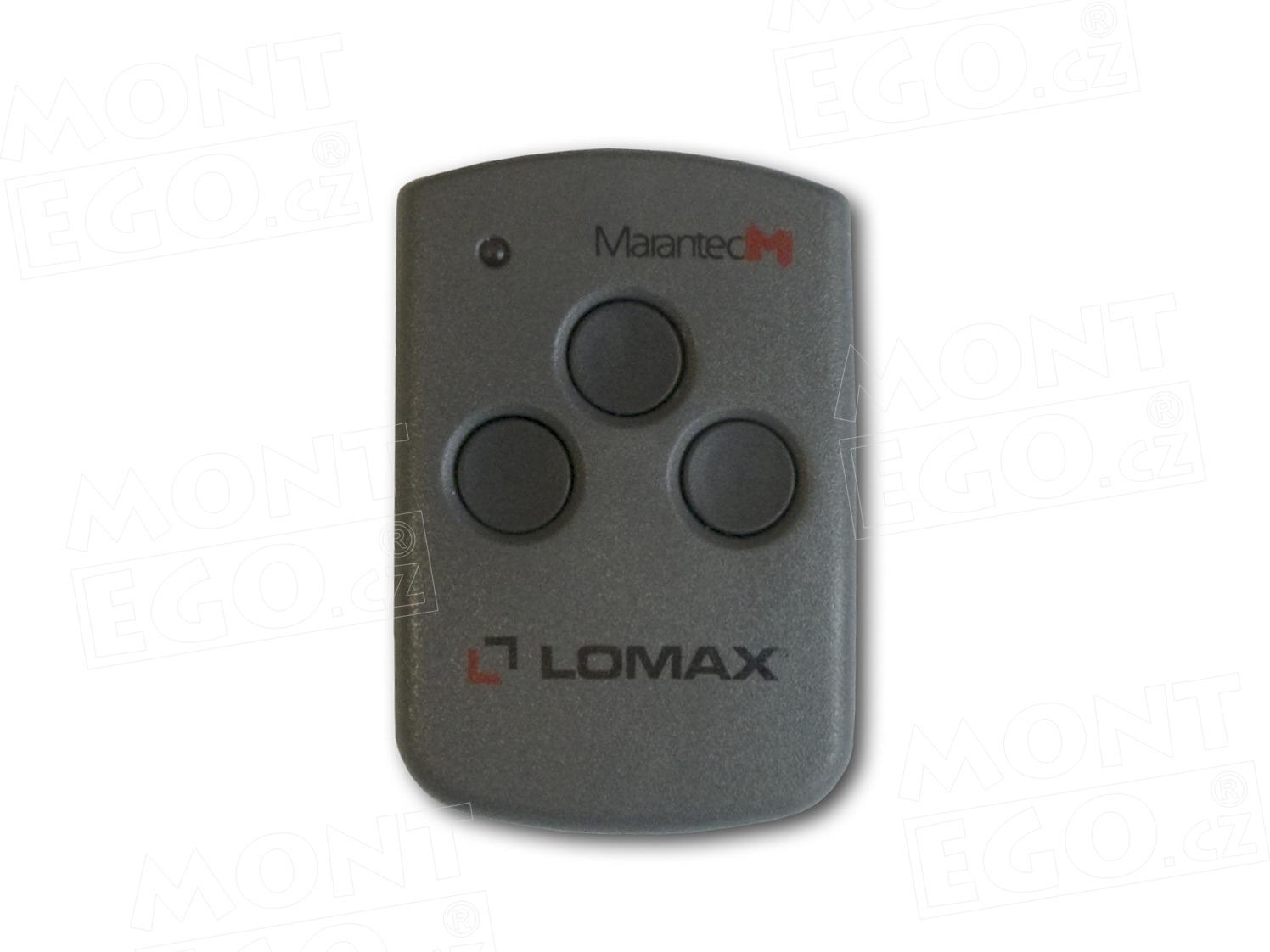 Mini dálkový ovladač Lomax Digital 313, LX313.868, 3 kanálový vysílač , 868 MHz