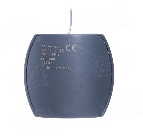 2 kanálový externí přijímač dálkového ovládání Marantec Digital 343, plovoucí kód, 868 MHz