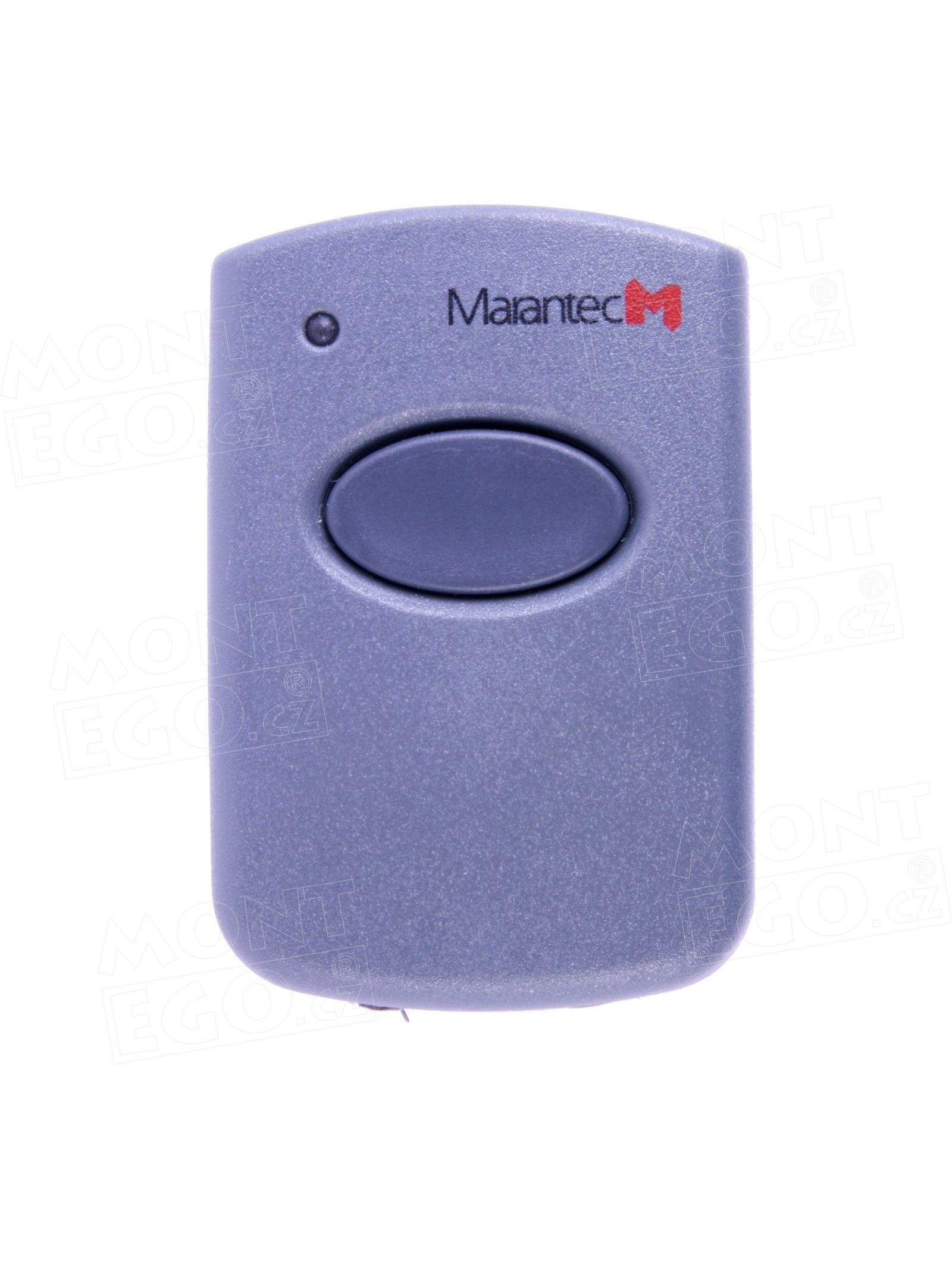 Mini ovládač na vrata, Marantec Digital 321, 1 kanálový dálkový ovladač, 433,92 MHz