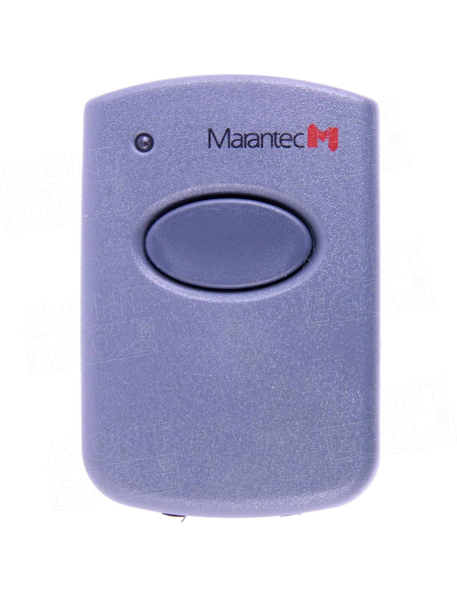 Mini ovládač pohonů bran a vrat Marantec Digital 321, 1 kanálový dálkový ovladač, 868,3 MHz