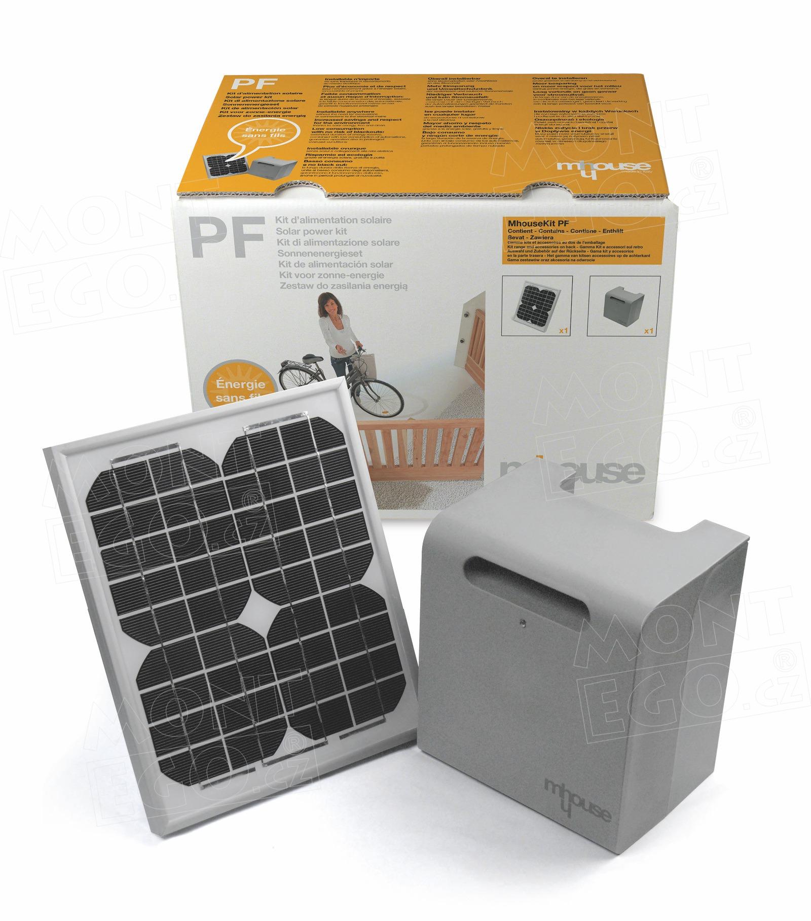 Solární napájení pro otevírače a pohony vrat Mhouse PF