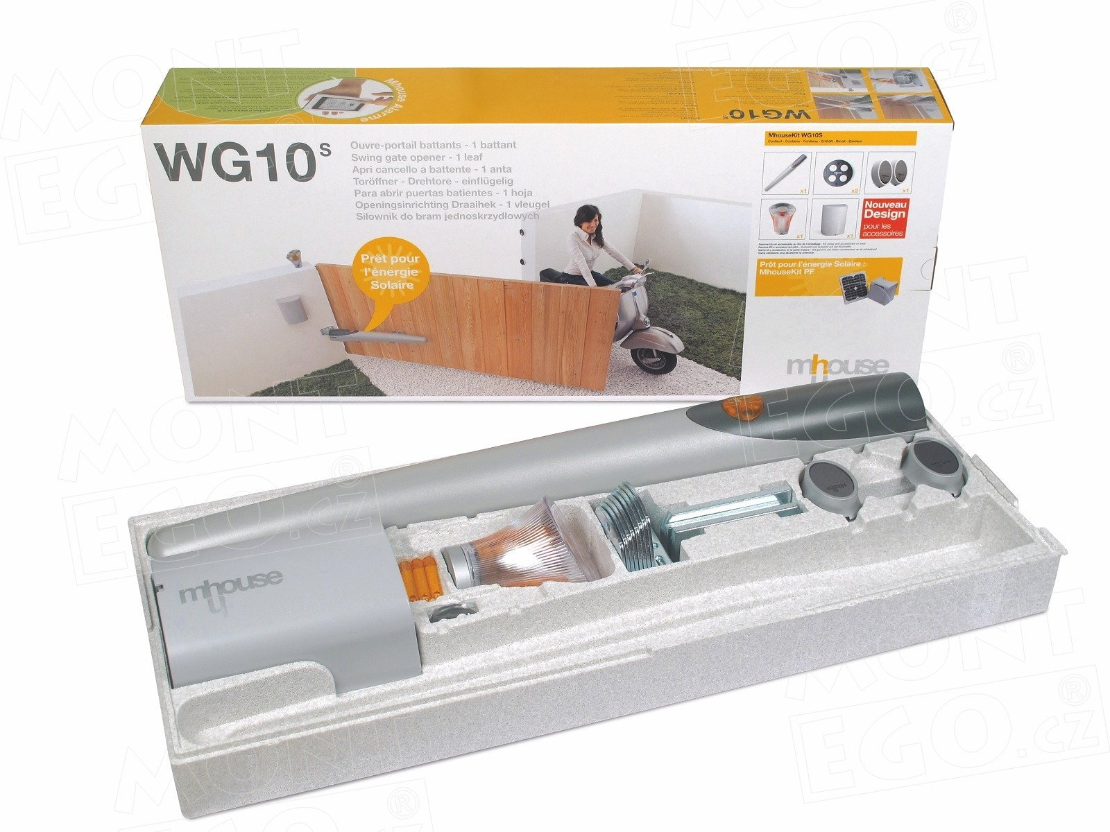 Mhouse WG10.KCE úplný set s pohonem na 1-křídlovou bránu širokou až 450 cm