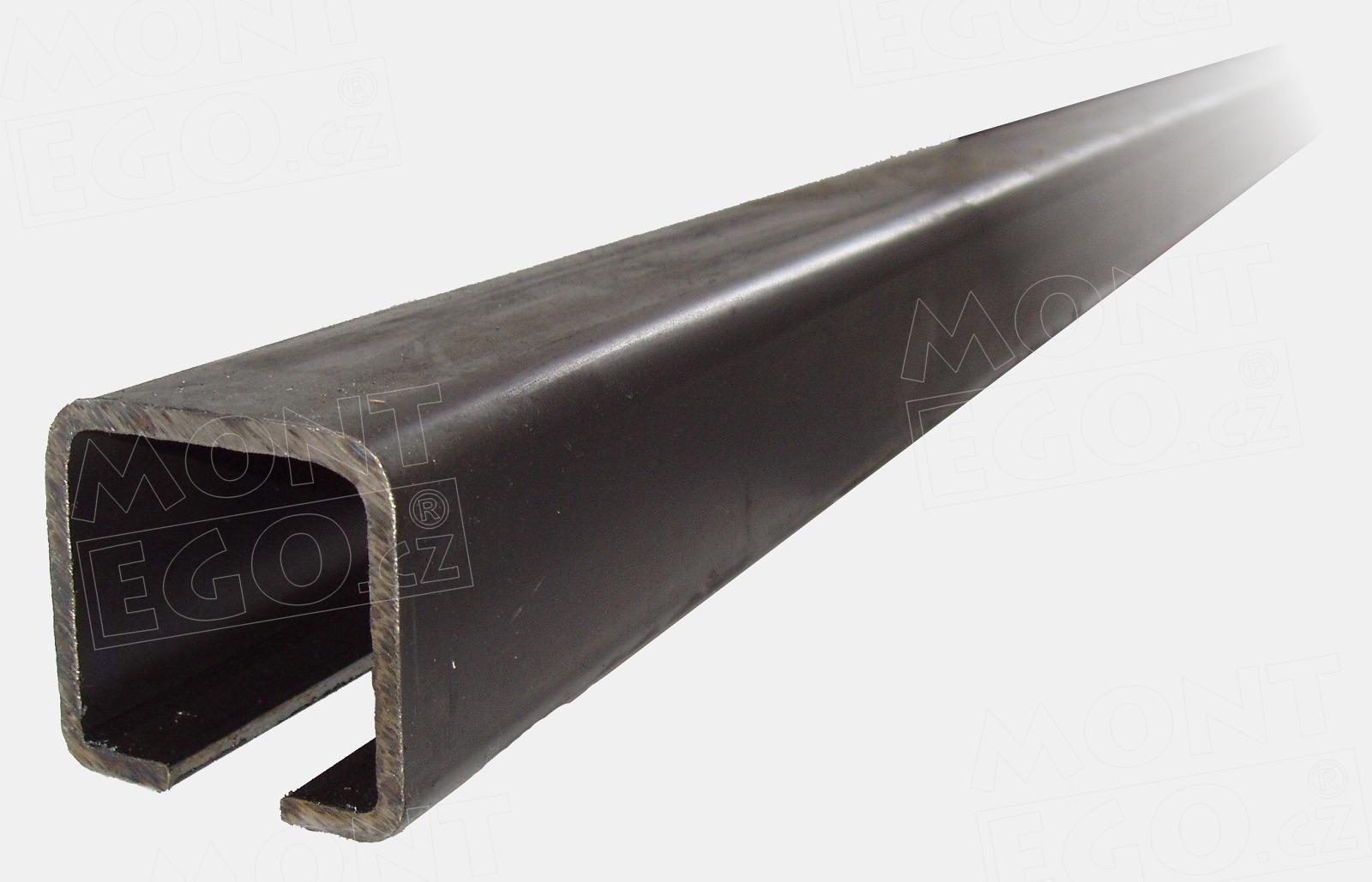 CP80-7 7 m dlouhý nosný C profil vjezdové brány 80*80 mm, síla 5 mm