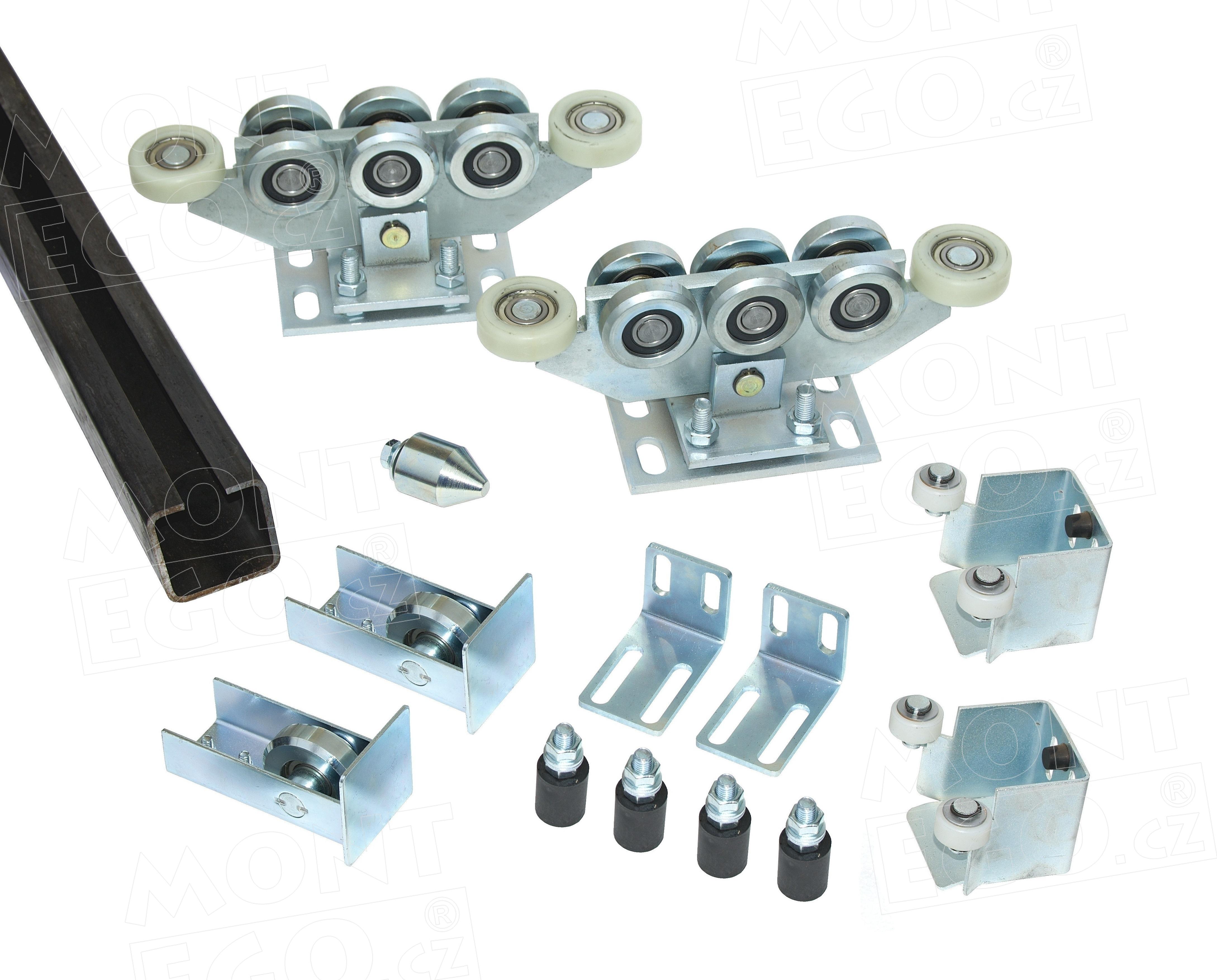 Komponenty na výrobu samonosné posuvné brány zavěšené dlouhé 6,50 m (průjezd) SK80.65 PLUS