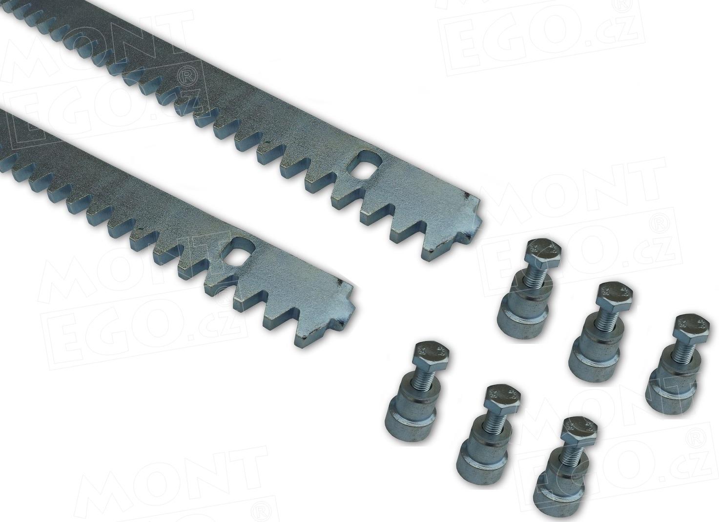 Set 2 ocelových hřebenů pro posuvné brány OHRB.8.2