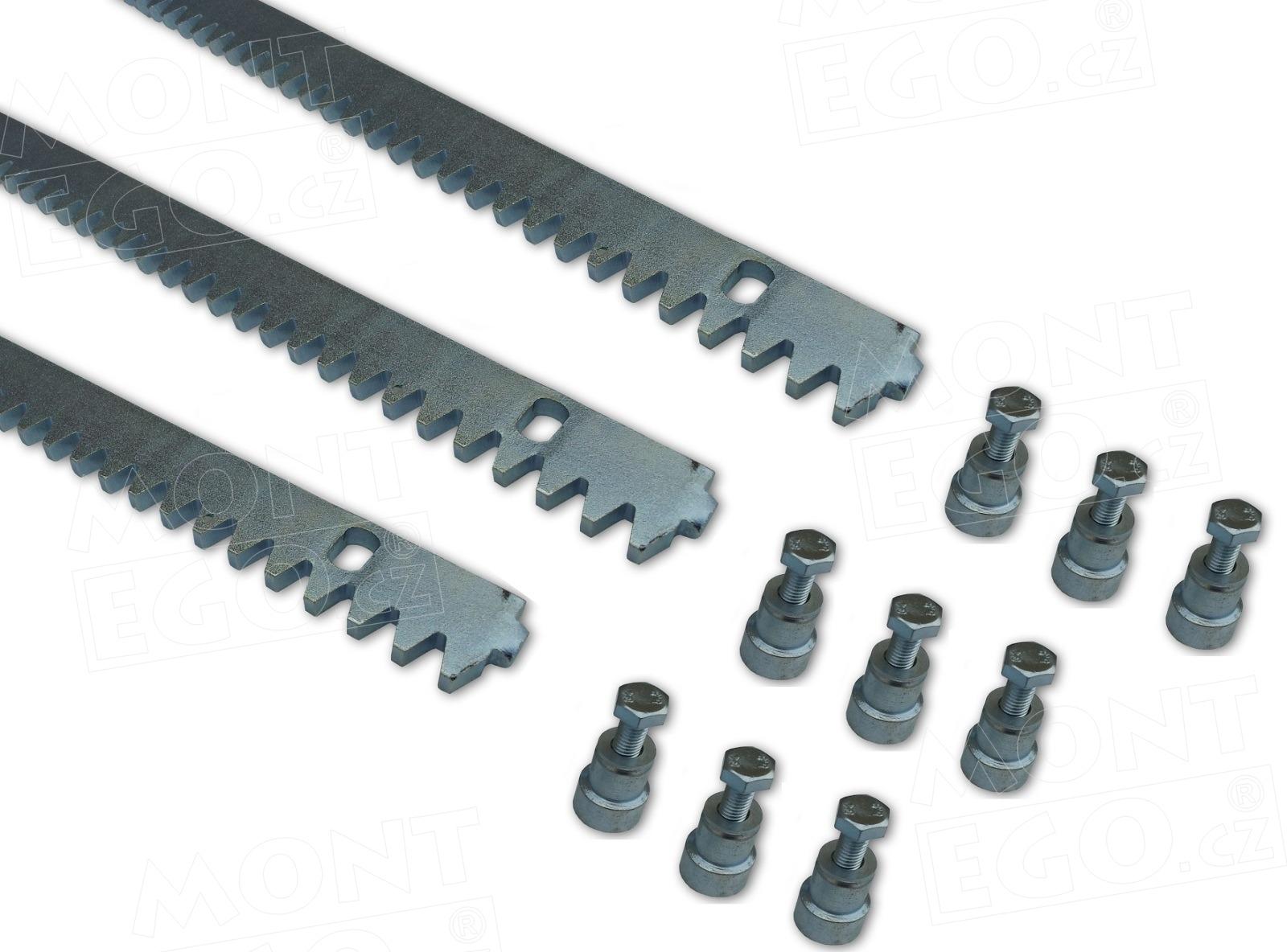 3 ks ocelové hřebeny pro posuvné brány OHRB.8.3