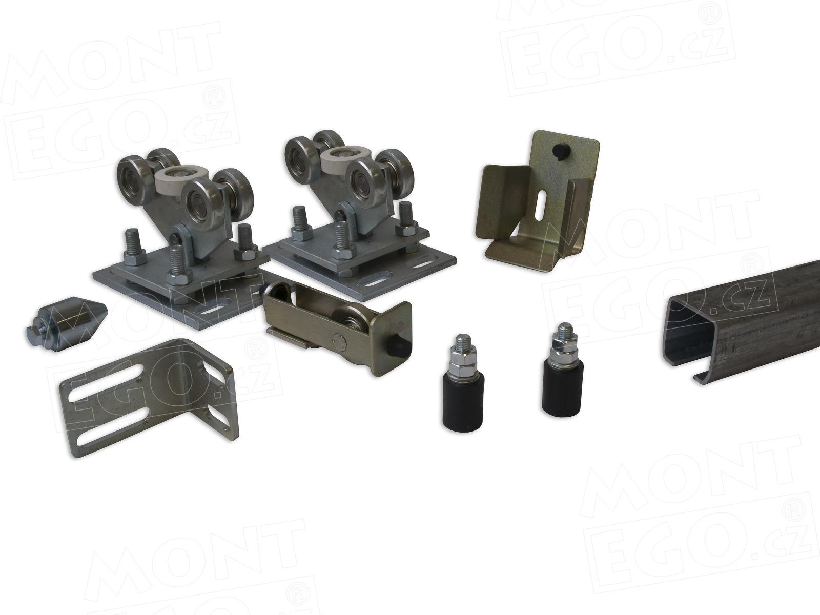 Komponenty na posuvnou bránu, zinkovaný C profil, SK60.44, do průjezdu 4,40 m + Doprava zdarma!