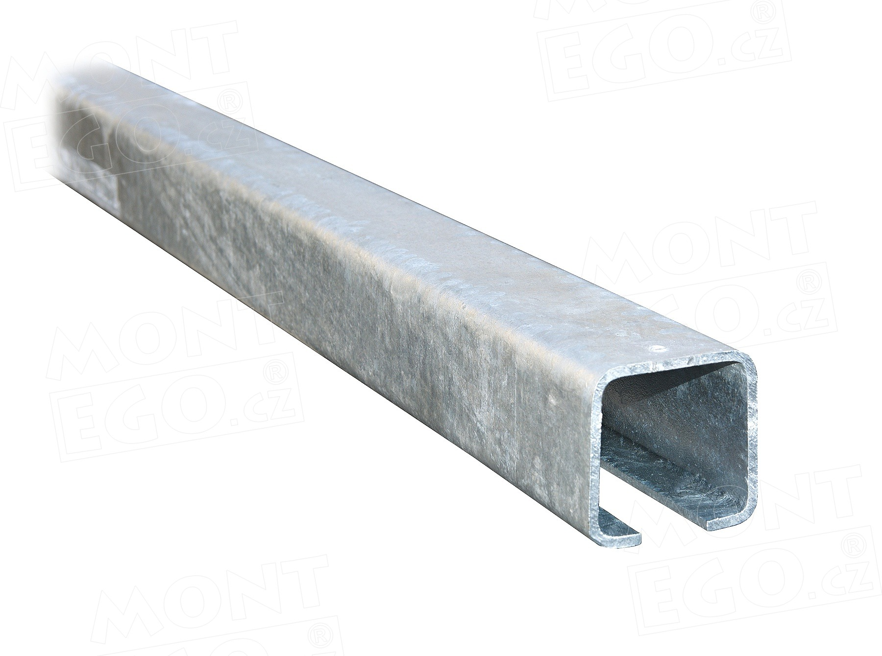 Šína C profil zinkovaný, 80x80x5mm CP80-6.zn, délka 6 m, pro samonosné posuvné brány