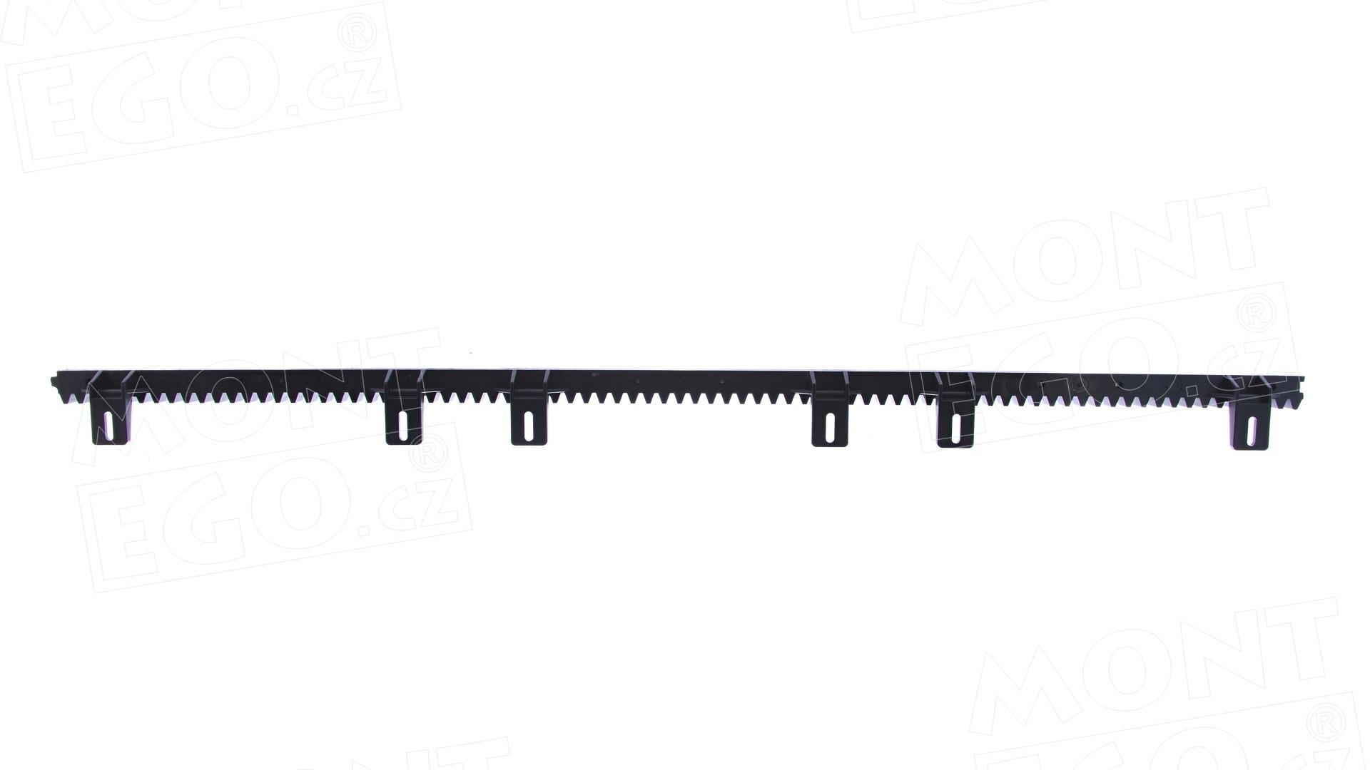 ROA6.T ozubený nylonový hřeben posuvné brány s ocelovou výztuhou, do 800 Kg, délka 1m