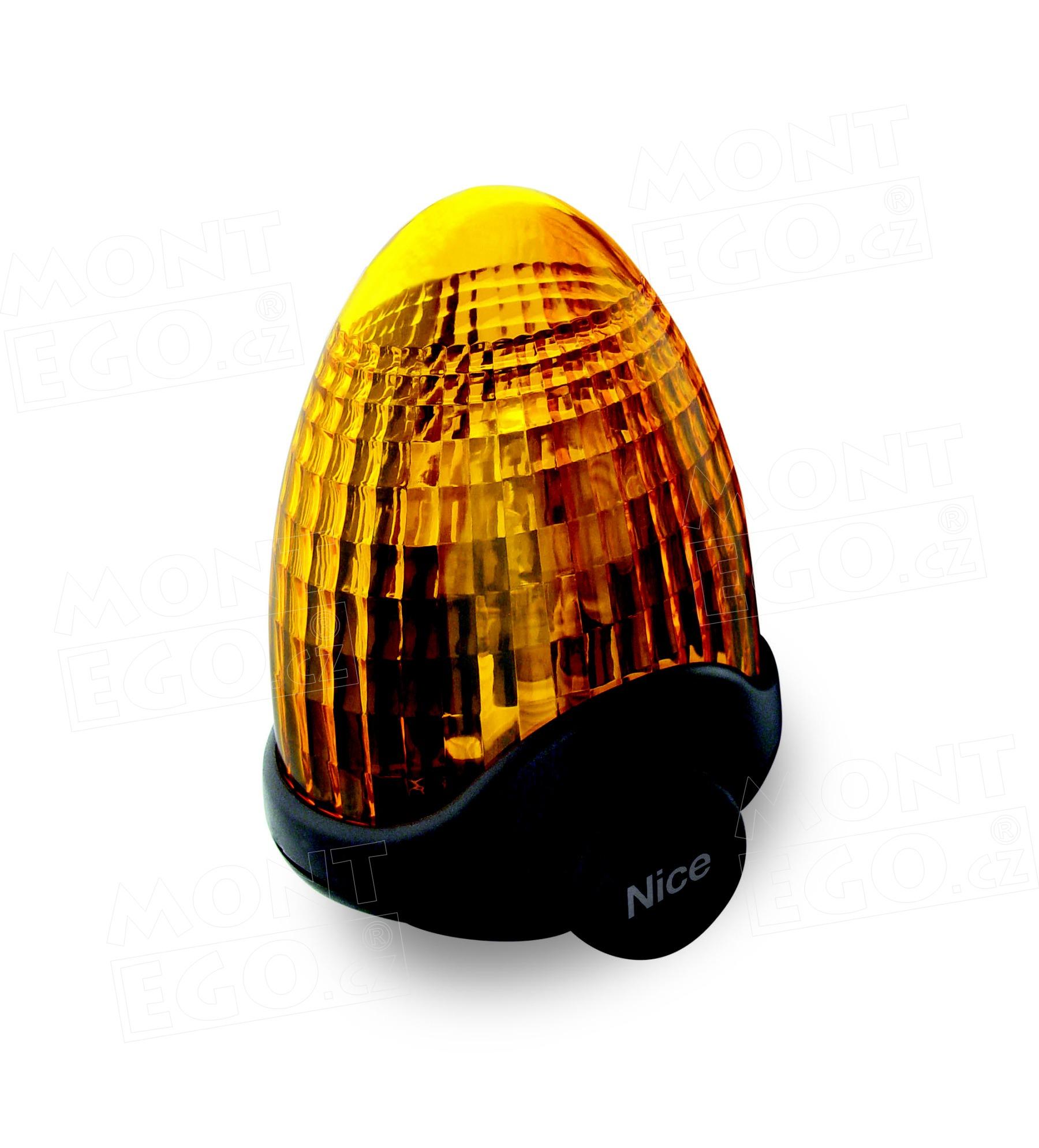 Nice LUCY blikající výstražná lampa pro pohony brány, 230 V