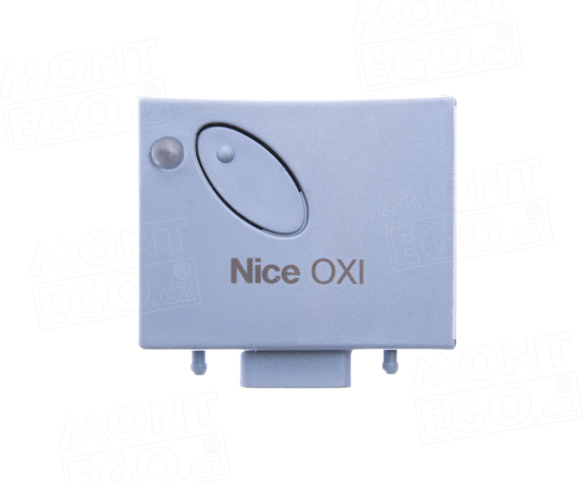 OXI až 4 kanálový zásuvný přijímač Nice, pl. kód, 433,92 MHz