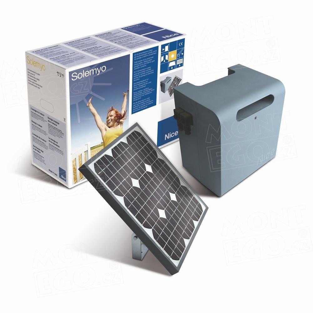 SYKCE set pro solární napájení pohonů brany, vrat a závory, Nice Solemyo