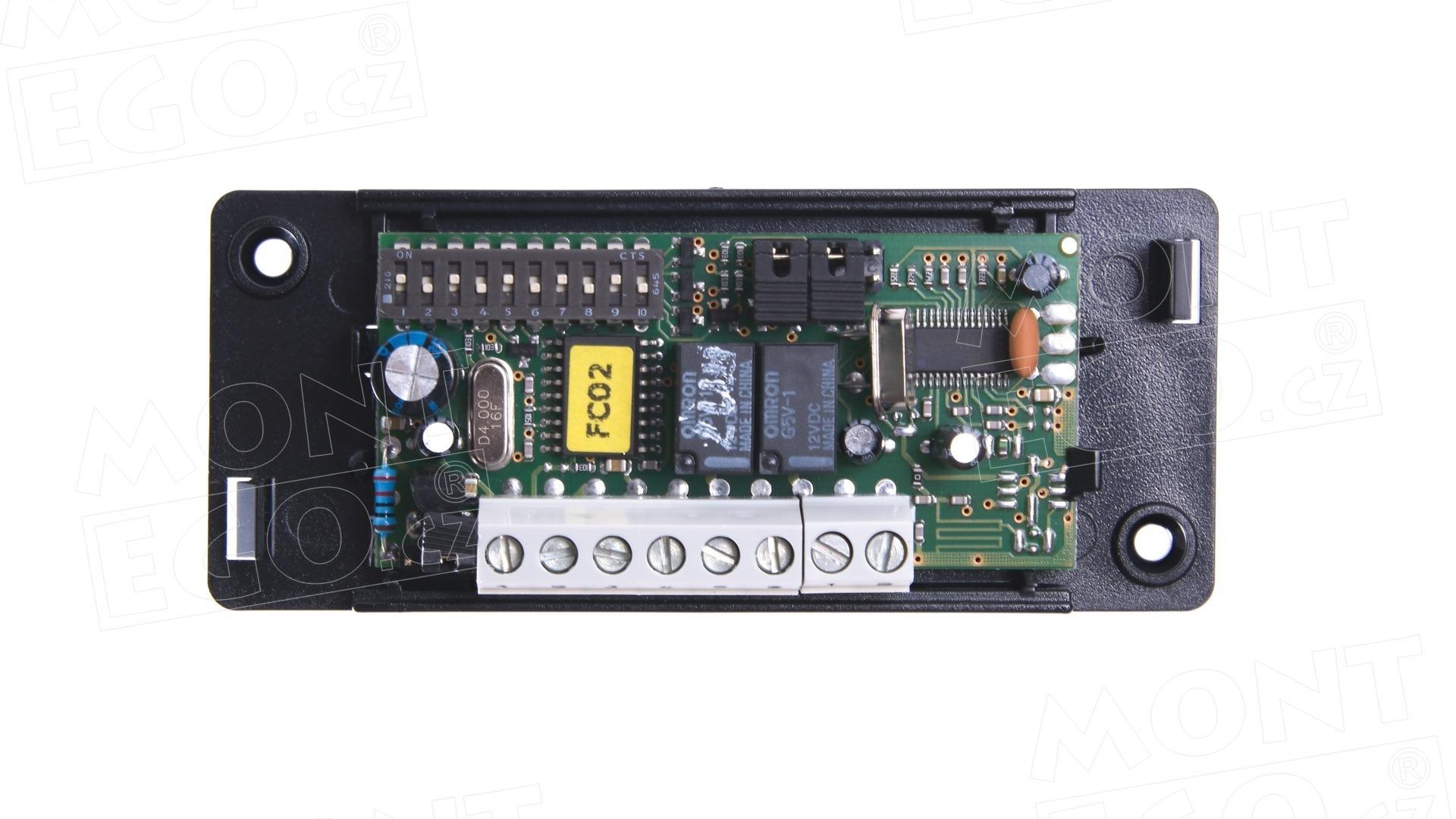FLOX2 2kanálový externí přijímač dálkového ovládání NICE s pevným kódem