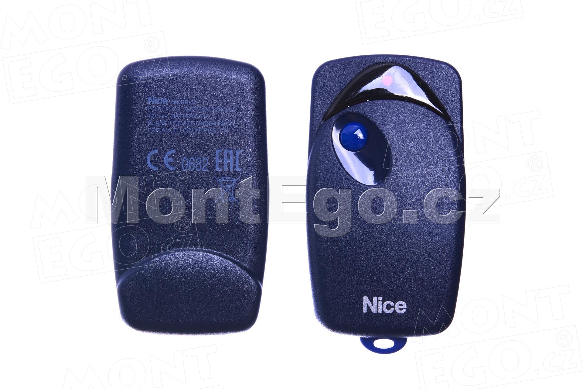 Flo1 náhradní pouzdro 1 kanálového ovládače Nice Flo (PRBF1)