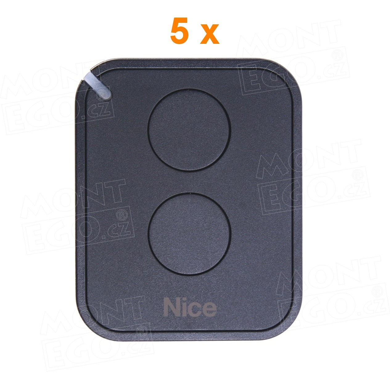 FLO2RE dálkový ovladač dvoutlačítkový na vrata a brány Nice Flo2R-E, náhrada za Nice FLOR-S, sada 5 ks