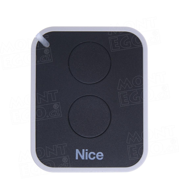 Nice ON2E 2 kanálový dálkový ovladač pro vrata a brány, náhrada za Nice Flor-s i Flo2RE