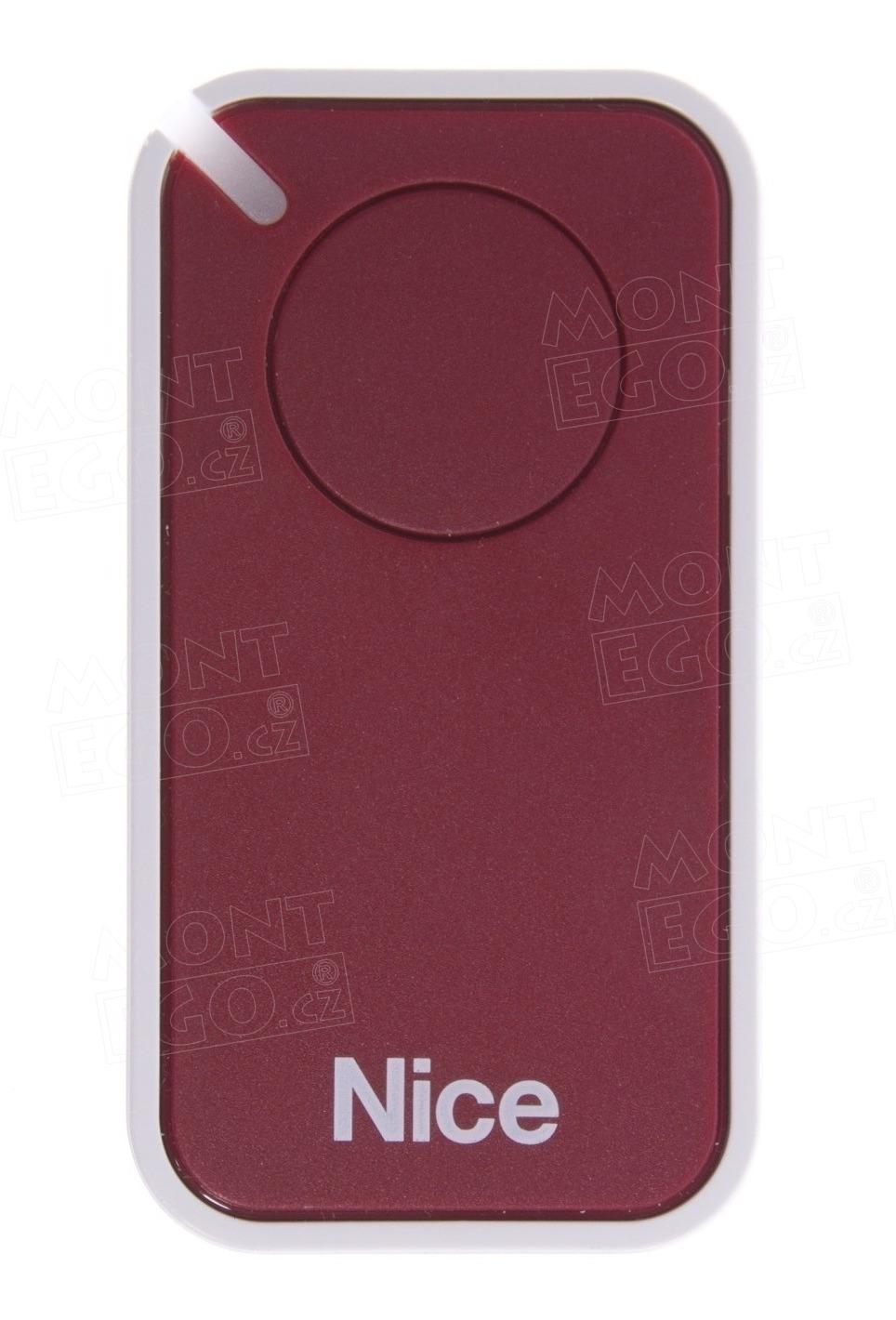 Dálkový vysílač pro pohony Nice INTI1R, 1 tlačítkový, červený, Nice ERA INTI