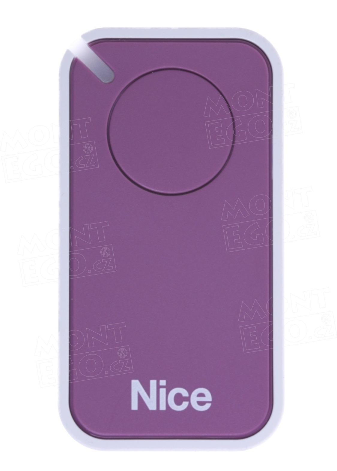 Dálkový ovladač pohonů Nice INTI1L, jednokanálový, fialový, Nice ERA INTI