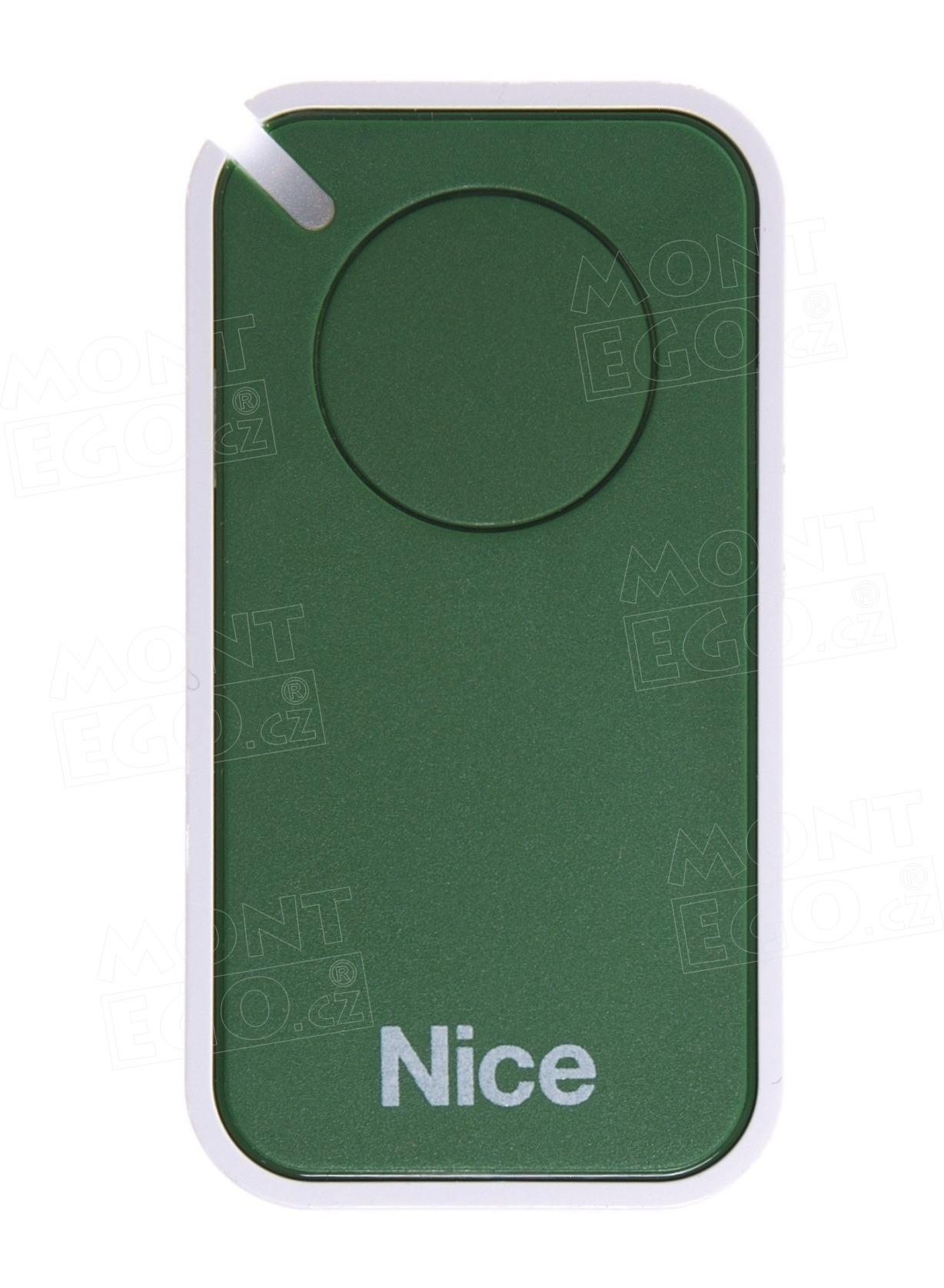 Dálkový ovladač pro pohon brány i vrat Nice INTI1G, 1kanálový, zelený, Nice ERA INTI