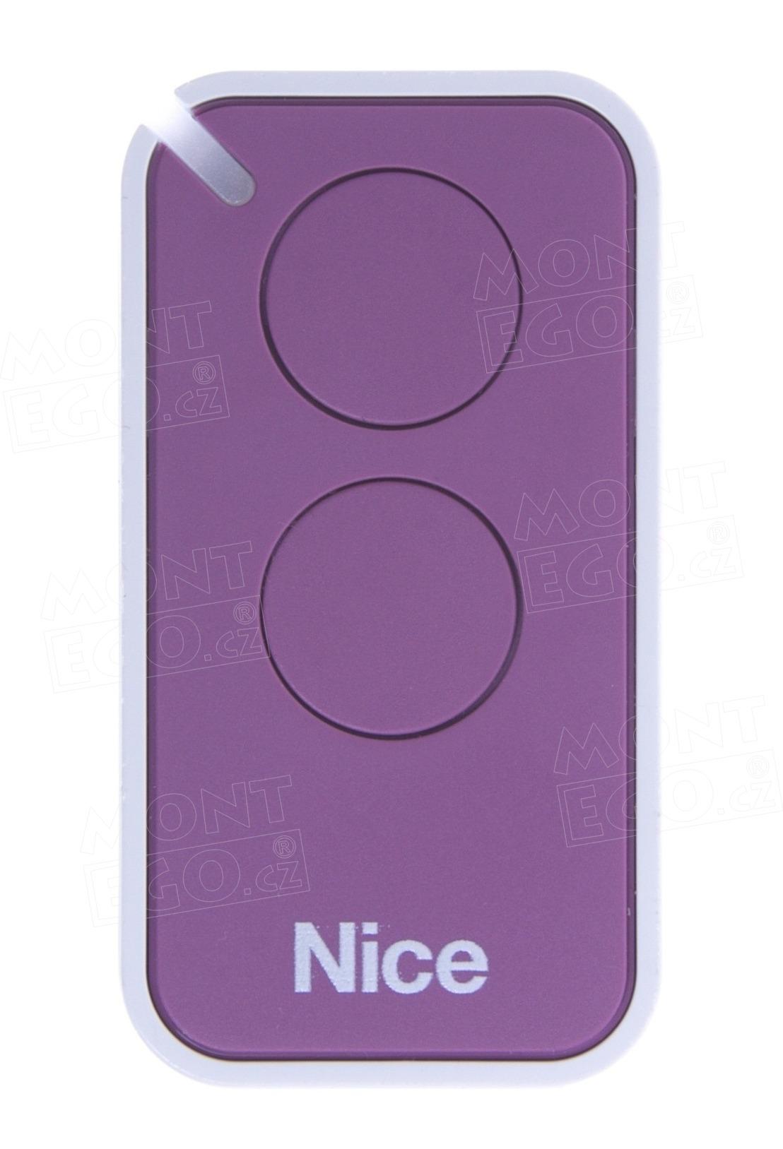Nice INTI-2L dálkový ovladač pro vrata a brány, 2-kanálový, fialový, Nice ERA INTI2L