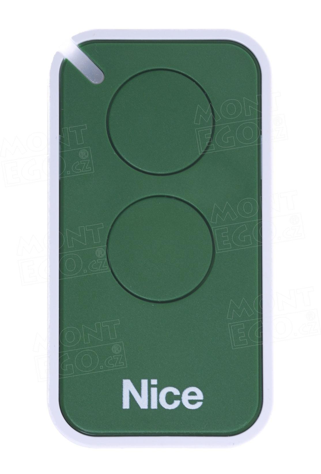 Ovladač brány Nice ERA INTI-2G, 2-kanálový, zelený, 433 MHz, INTI 2G
