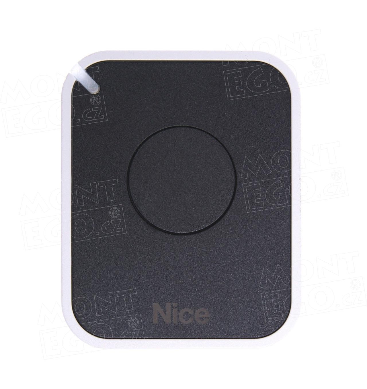Nice ON1E 1 tlačítkový dálkový ovladač závory a vrat, náhrada za Nice Flor-s - Flo1R