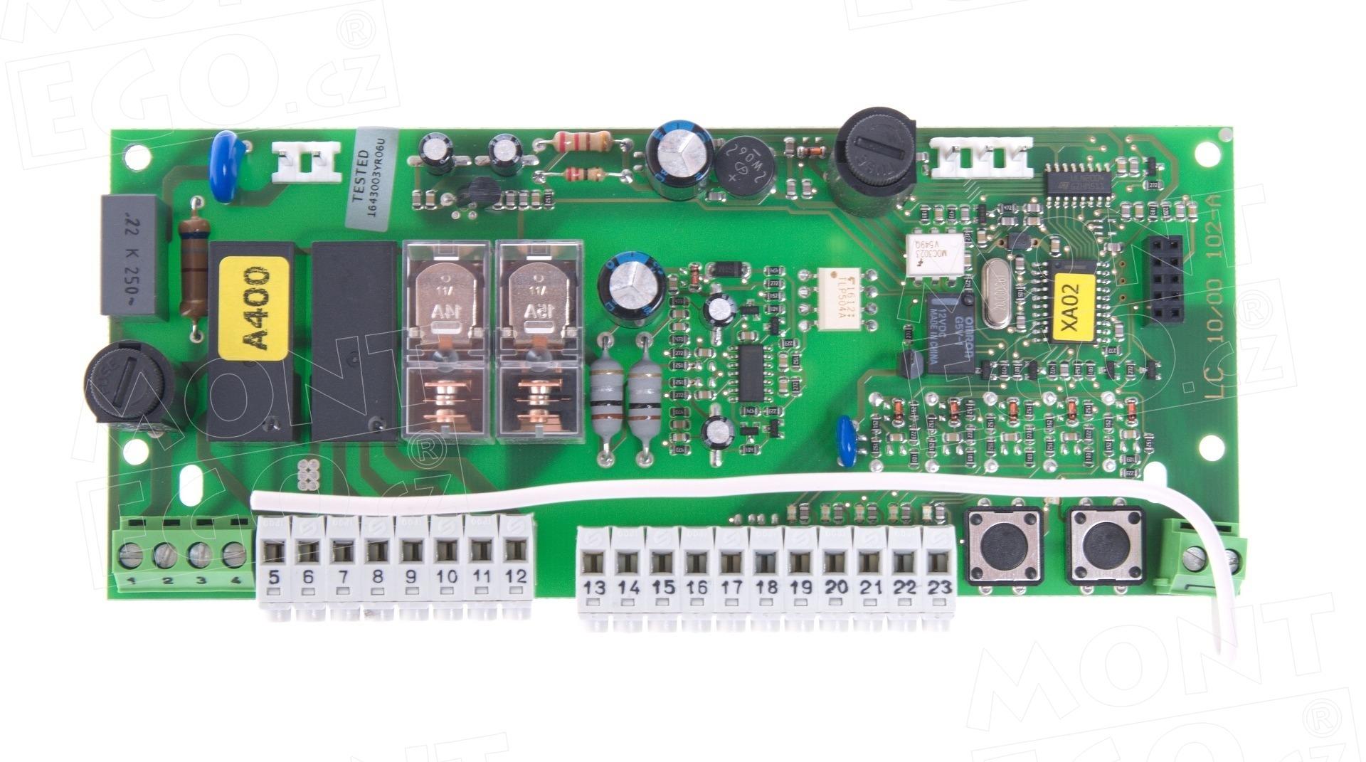102-A.8001 náhradní řídící jednotka do elektroniky Nice A400, pro pohony křídlových bran Nice WINGO
