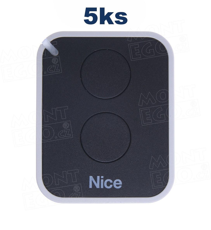 Nice ON2E 2 kanálový dálkový ovladač, sada 5 ks, náhrada za Nice Flo2RE