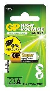 GP 23AE alkalická baterie 12 V pro dálkové ovládače