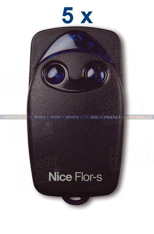 Nice FLOR-S set 5 ks dálkový ovladač, originál Nice FLO2R, skladem