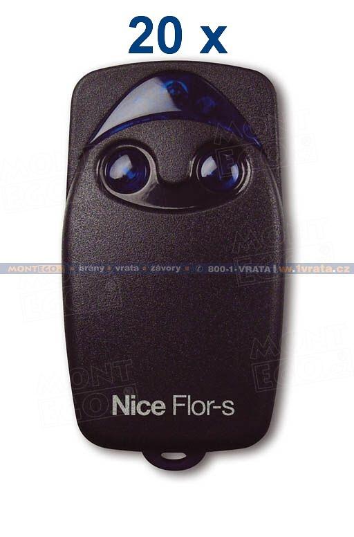 Nice FLO2R-S sada 20 ks levných dálkových ovladačů Nice FLOR-S