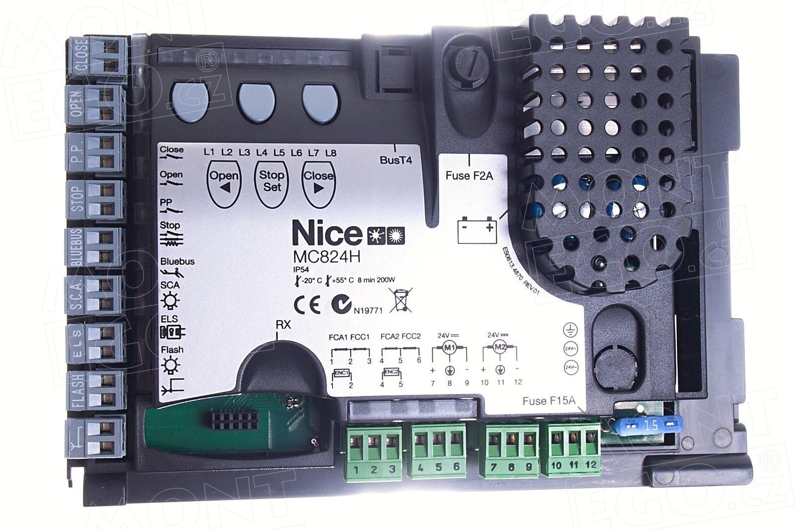Řídící jednotka Nice MCA1 do elektroniky MC824H pro pohony brány Toona 24V