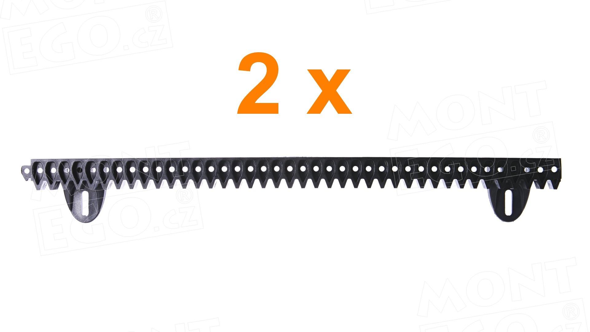 MR1R plastová hřebenová lišta pro pohony posuvné brány 1m
