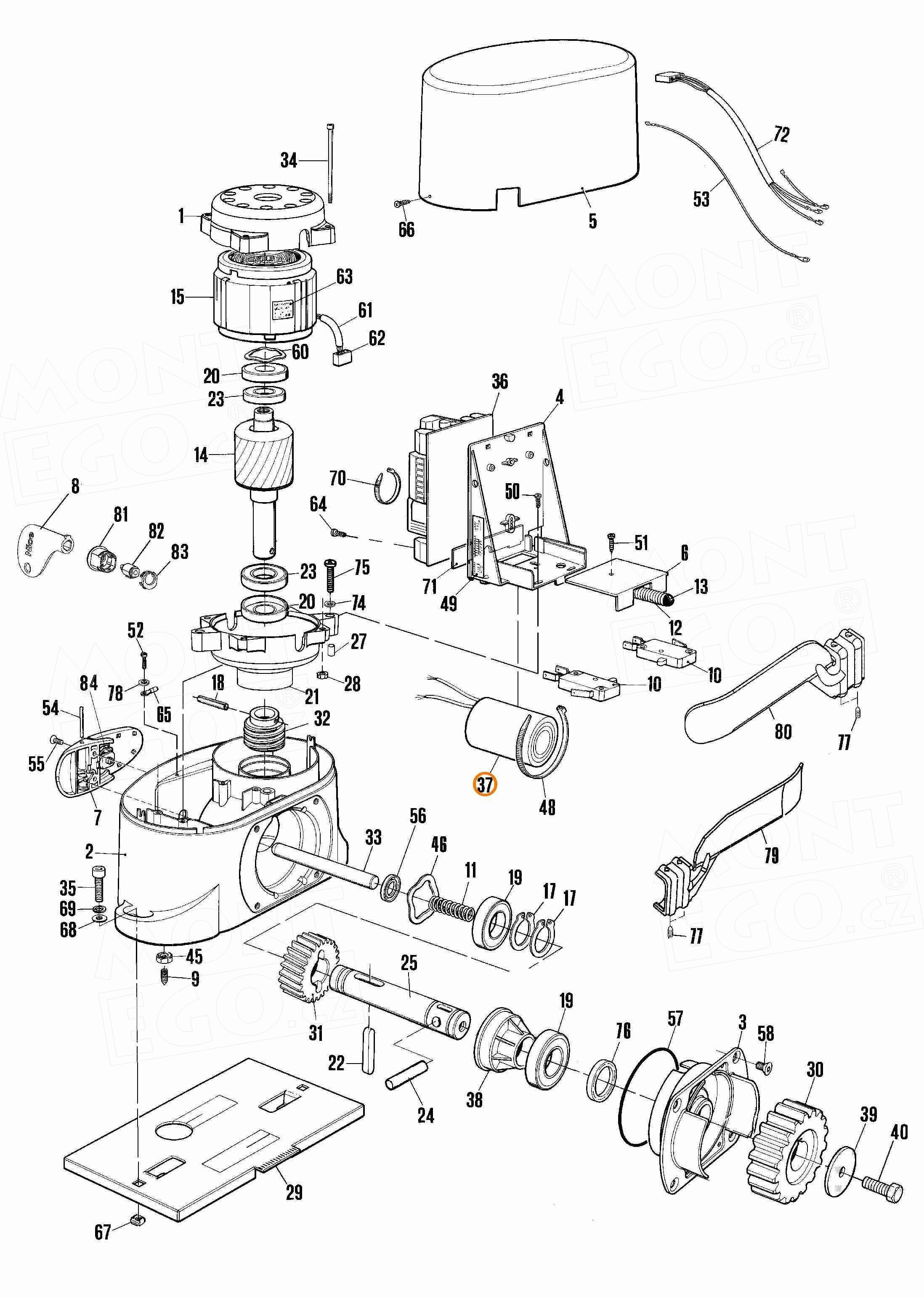 12U450.0727 kondenzátor 12 µF/450V do pohonu brány Nice Robo500